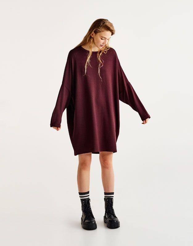 :Vestido cocoon de manga comprida