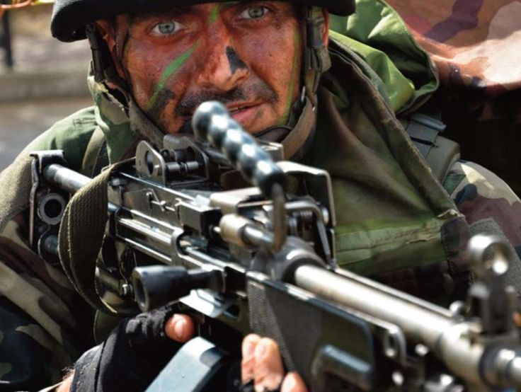 Paratrooper from French foreign Legion (2ème REP).