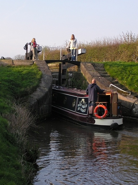 Canal Boat and Lock.