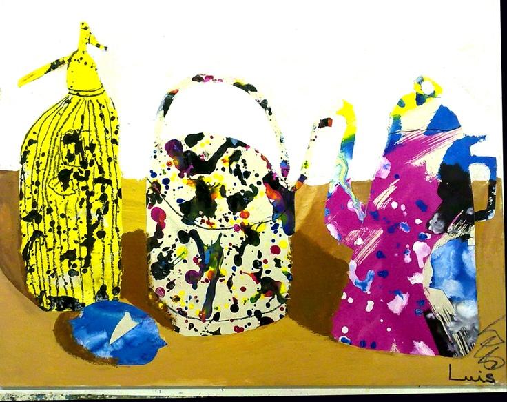 Taller de pintura, collage  curs 2011/12   www.escolatrac.com