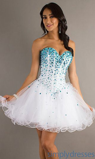 Babydoll Prom Dress by Mori Lee at SimplyDresses.com