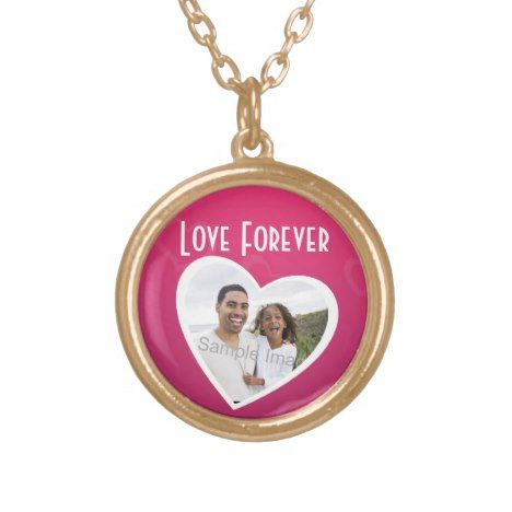 Photo Heart Frame Personalized Pink/White Gold Plated Necklace #jewelry #valentinesday