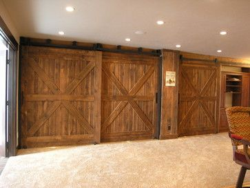 Man Cave Barn Door Design Ideas, Pictures, Remodel and Decor