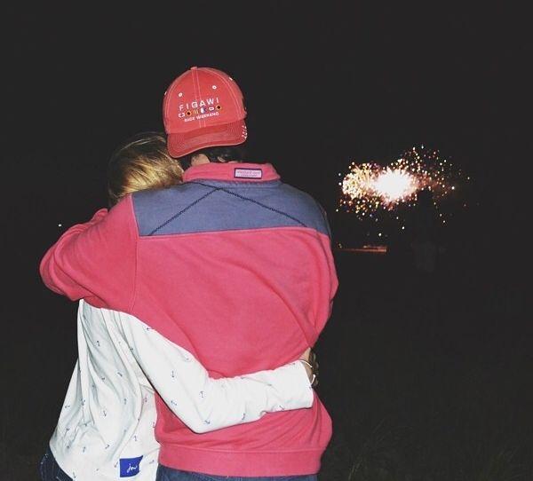 cute couple + fireworks = ❤️❤️