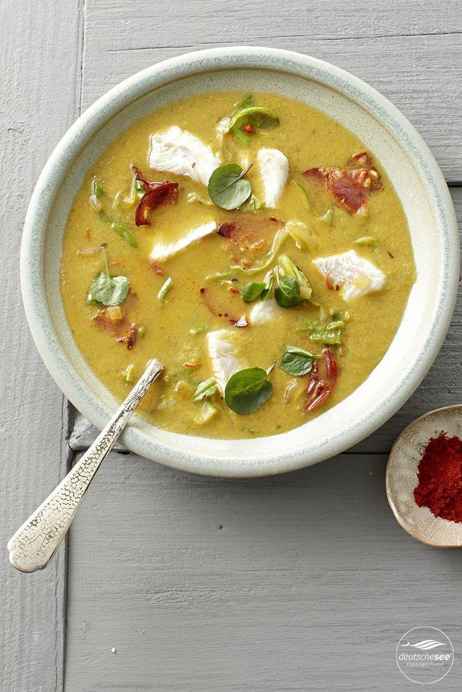 Rezept: Spitzkohlsuppe mit Kabeljau und Chorizo für die pikante Schärfe.