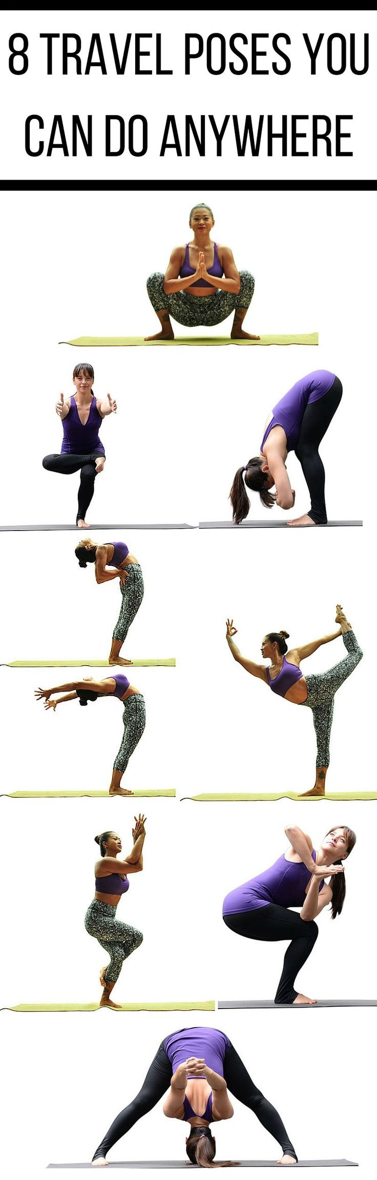 If you're traveling without a mat or don't have the space to roll one out, you can still stretch your whole body with these 8 standing…