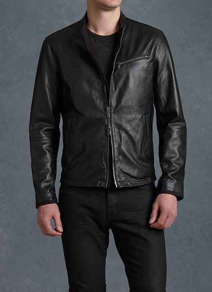Men's Designer Leather Jackets - Bombers, Suede Moto Jackets, Coats & Shearlings | John Varvatos