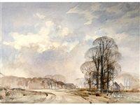A winter sky by Rowland Hilder