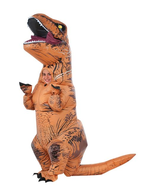 Jurassic World Inflatable Kids T-Rex Costume - This Amazing T-Rex inflatable costume will be lots of fun this Halloween! Dancing and jumping around will never be as fun as when you wear this T-Rex. This is the officially licensed costume from the Jurassic World movie. This jumpsuit inflates with battery pack and fan. You can complete it with the T-Rex gloves. Take the Indominus Rex on this Halloween. #yyc #costume #Calgary #TRex #JurassicWorld