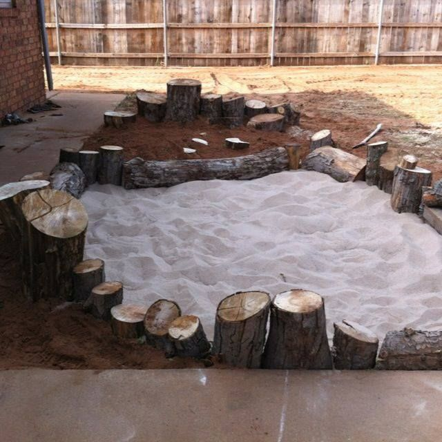 """Gorgeous area - digging pit using different sands, rocks & logs from Elite Childcare Solutions & Elite Family Day Care ("""",)"""