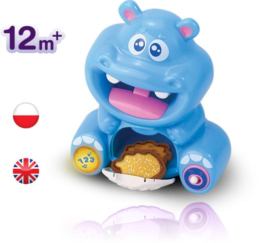 Ciasteczkowy Hipcio: mówię po polsku i liczę ciasteczka! Wydaję, także zabawne dźwięki!