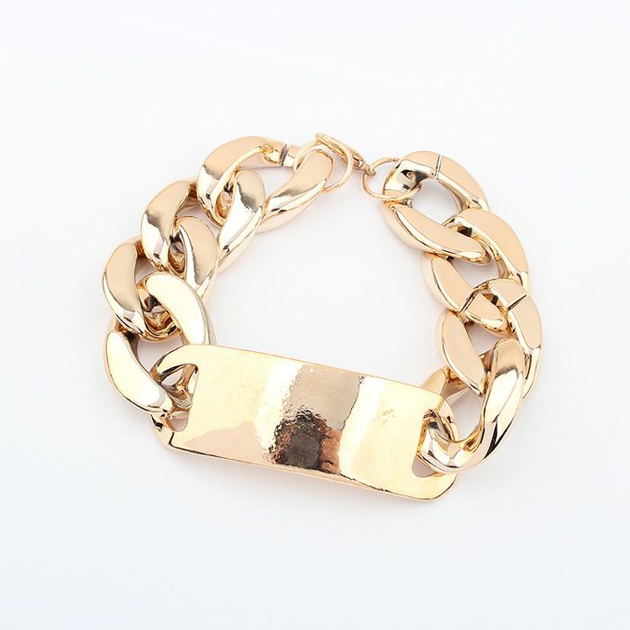 : Gold Chains, Paned Metal, Style Woman, Chain Bracelets, Chain Paned, Jewelry, Punk Style