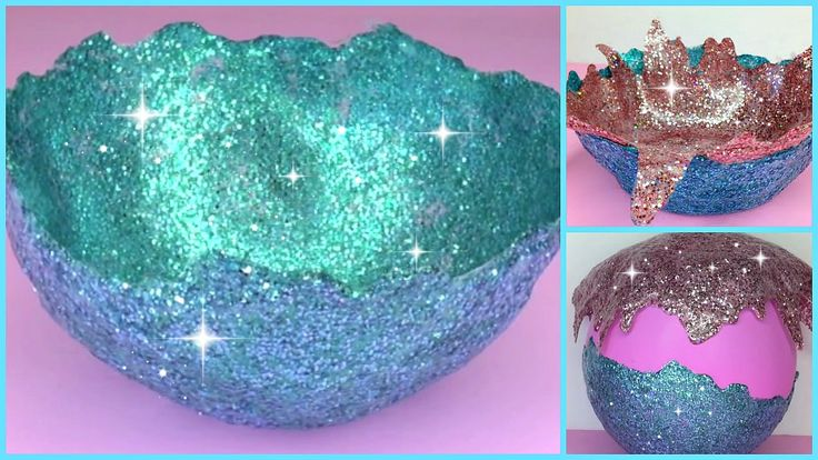 Hiiiii, here's a DIY Glitter Bowl using Mod Podge. All you need are balloons, glitter and mod podge. I saw these pretty glittery bowls on pinterest and wante...