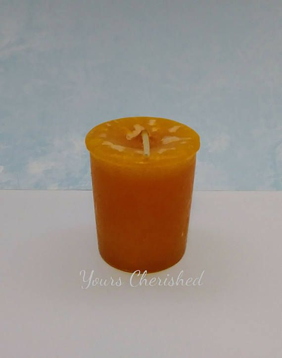 Enjoy the smell of these MANGO Scented Votive Candles