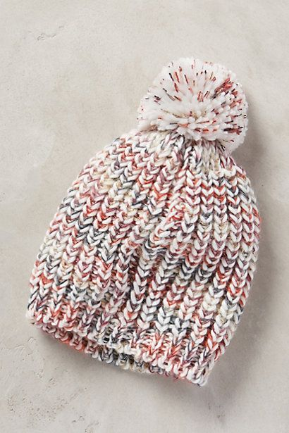 Ancona Pom Pom Hat - pretty sure this is the fisherman's rib! anthropologie.com #anthrofave