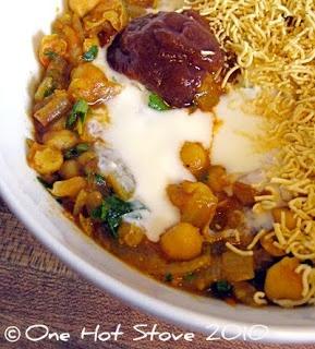 One Hot Stove: Date Tamarind Chutney and Aloo Tikki Chana Chaat