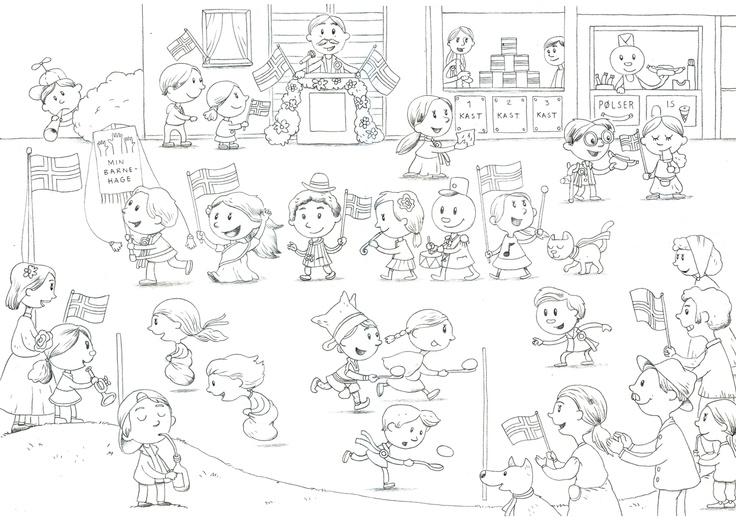Demokrabaten illustrerer 17. mai. Tegningen harlisens av typen CC BY SA NC. Det betyr at du fritt kan bruke tegningene og dele dem videre under samme vilkår, så lenge du ikke bruker tegningene i forretningssammenheng. Bruk dem gjerne i skole og barnehage :)