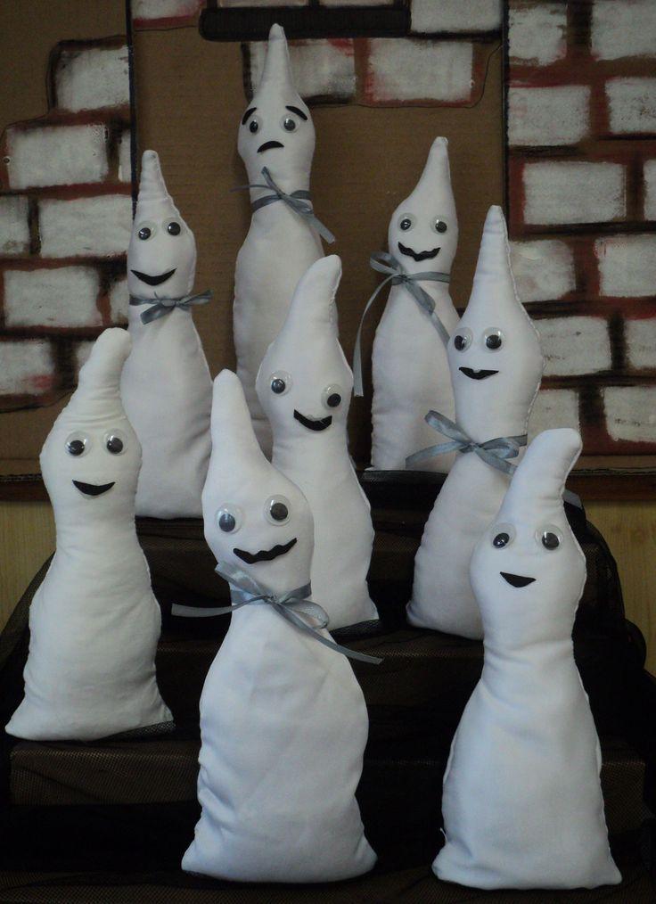 Duchové - ruční šití dětí (výplň duté vlákno a rýže)