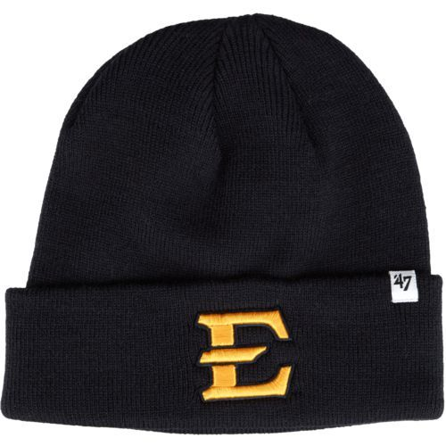 '47 East Tennessee State University Raised Cuff Knit Beanie (Navy, Size One Size) - NCAA Licensed Product, NCAA Men's Caps at Academy Sports