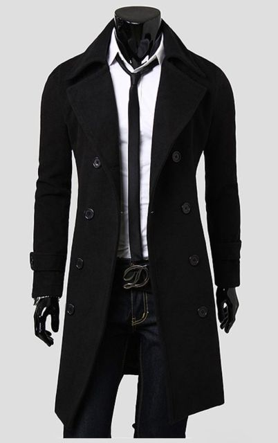 New Arrival Autumn Trench Coat Men Brand Clothing Fashion Mens Long Coat Jacket Top Quality Cotton Male Overcoat M-3XL