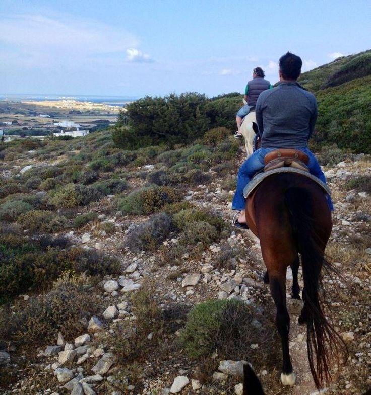 Riding on a horse is a great way to discover Paros island!