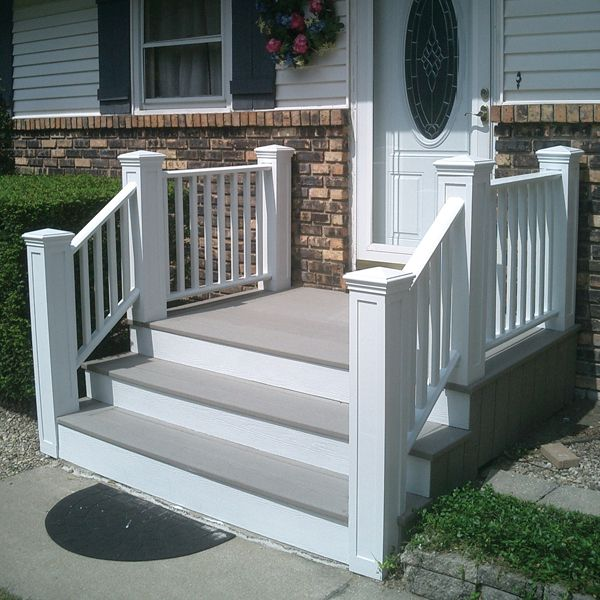 Short Stairs Ideas: Composite Decking Over Concrete Steps I Dont Like The