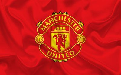 Download wallpapers Manchester United, flag, football club, MU, Premier League, England, Manchester United emblem