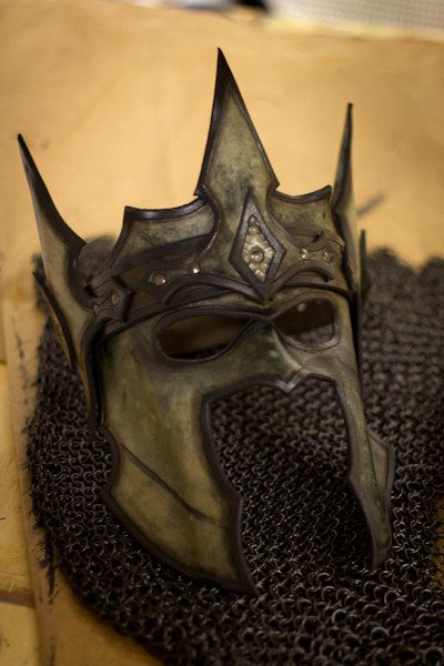 Crown of the Warrior King Handmade Leather Mask by OsborneArts, $165.00