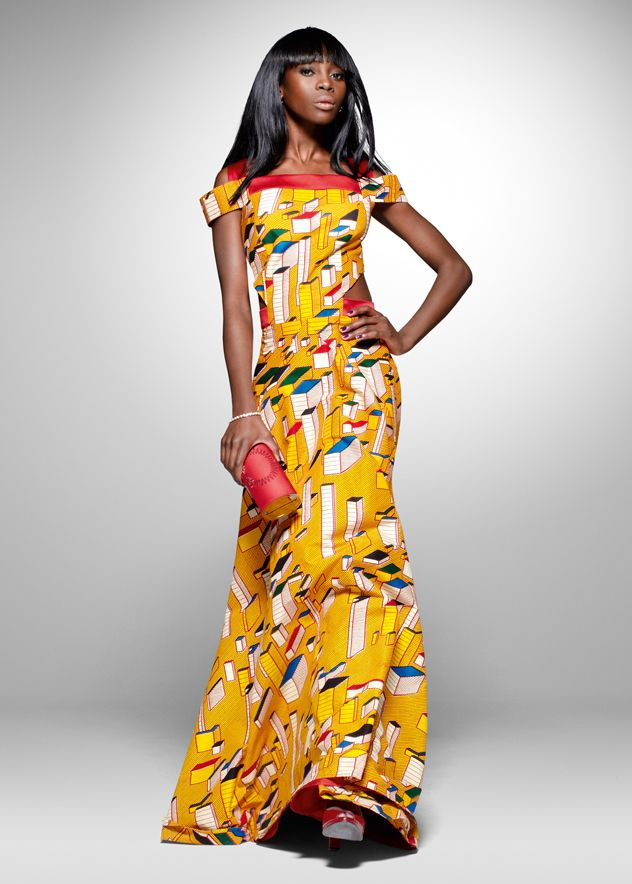 From the archive: a party look from Vlisco's 2011 'Nouvelle Histoire' collection | #vlisco #nouvellehistoire #dutchwax