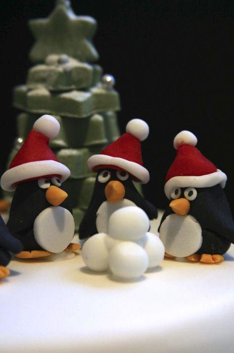 penguin by snowballs