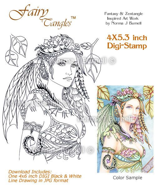93 best Fairy Tangles™ Coloring For Adults images on Pinterest ...