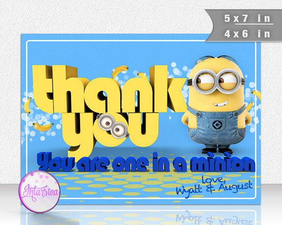 Minions Despicable Me Personalized Printable by IntarsicaDesign