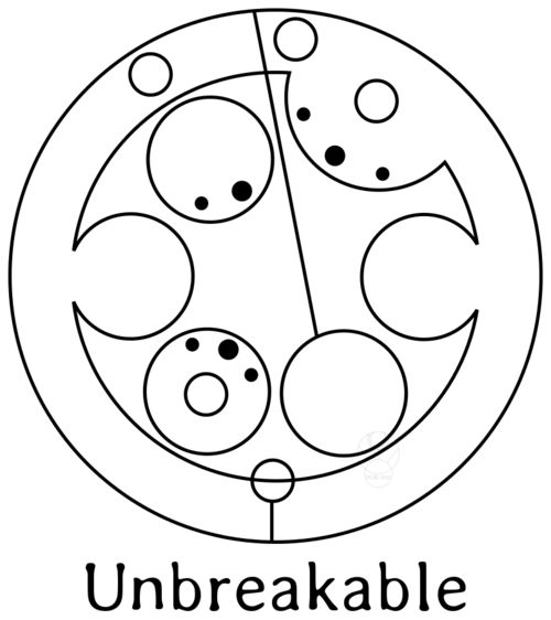 """Here is the request from aurynworld who asked for the word """"unbreakable"""" for a tattoo design (hence the black and white only.) I had to repost this because I forgot the letter E. Sorry! (note to self, don't work on these after midnight.)"""
