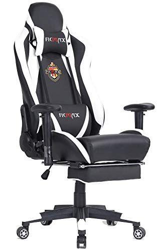 Ficmax Grande Taille Fauteuil De Bureau Chaise Pc Gamer Ergonomique Avec Lombairecoussin De Massage Et Reglable Repose Gaming Chair Pc Gaming Chair Gamer Chair