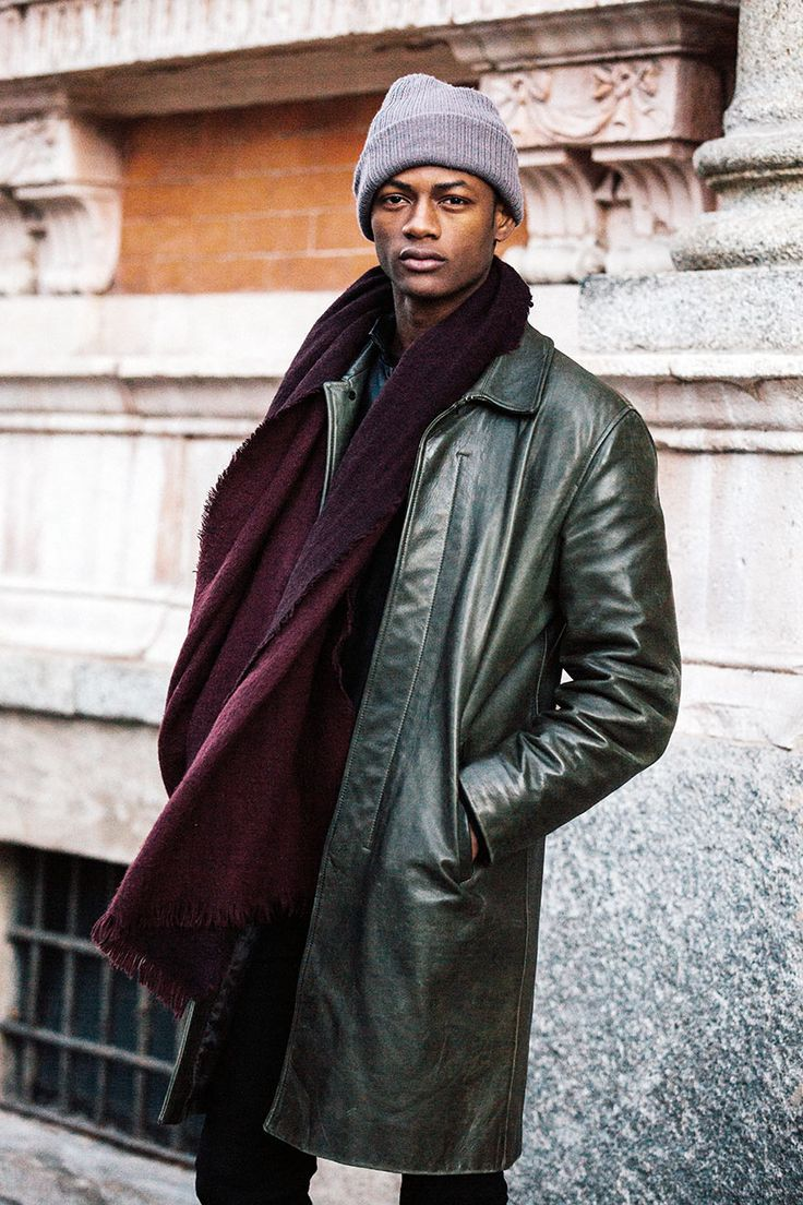Garconjon: Model Off Duty: via Festa del Perdono, Milan. Leather Coats Leather JacketsBlack LeatherMen's ...