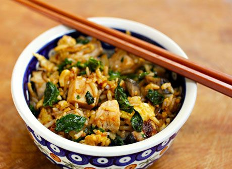 Turkey and kale fried rice uses the last of the Thanksgiving leftovers.