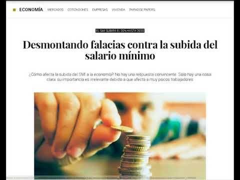 Santiago Niño Becerra – Subida salario mínimo, Nuevos contratados, Tasa ...