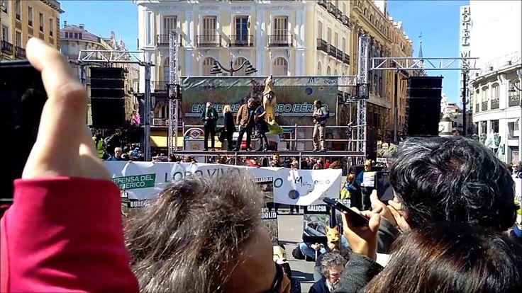 POR EL LOBO MANIFESTACIÓN 12 DE MARZO 2017 MADRID