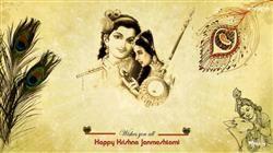 Wish U All Happy Janmashtami With Lord Krishna And Meera HD Wallpaper,Lord Krishna Wallpaper,Happy Janmashtami Wallpaper,Greetings HD Wallpaper