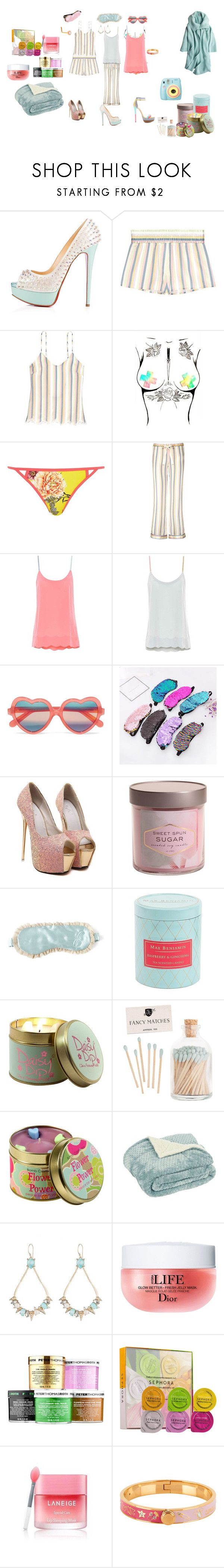 """sweet dreams"" by mskillgalore on Polyvore featuring Morgan Lane, 81hours, Ruthie Davis, Cutler and Gross, WithChic, Signature Soy, Max Benjamin, Lily-Flame, Hostess and Polaroid"