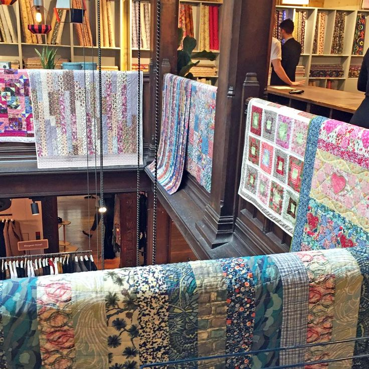 They have finally made it – the Quilt SOS quilts are now in a Liberty Quilt SOS Exhibition.I took the quilts to Liberty last week and overnight the fantastic design team in the Liberty store …