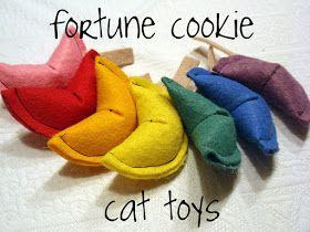 diy fortune cookie cat toy tutorial
