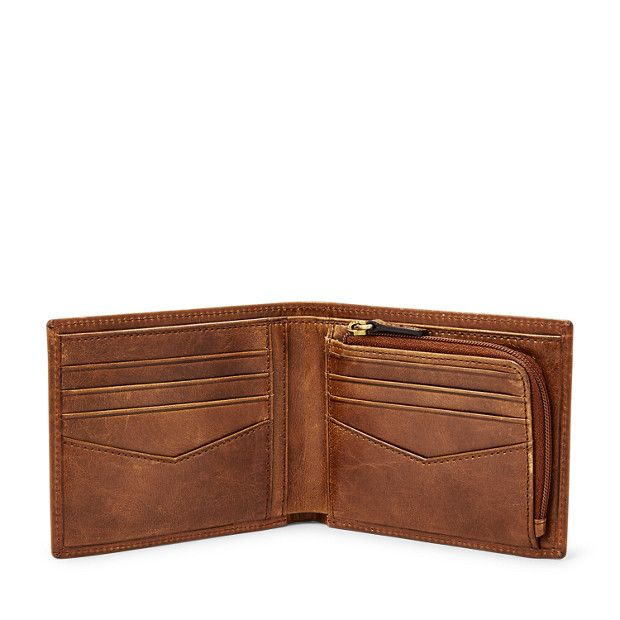 Convenient and stylish, our smooth distressed leather Ryan bifold lets you carry your cards, coins and cash with ease.We've designed this pouch with a special lining to help protect the Radio Frequency Identification (RFID) chips in your credit and debit cards from unwarranted