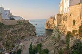 Vue de polignano a mare, Italie Images De Stock Libres De Droits