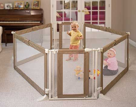 play yards   ... Infant Supersized Play Yard Gives Baby the Largest Play Space of All