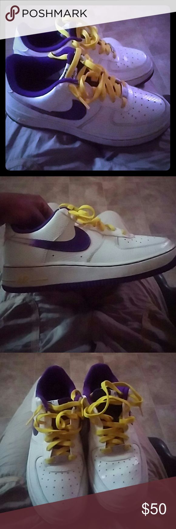 Nike low top forces I wore them 1 time still brand new size 6 in boys Nike Shoes Athletic Shoes