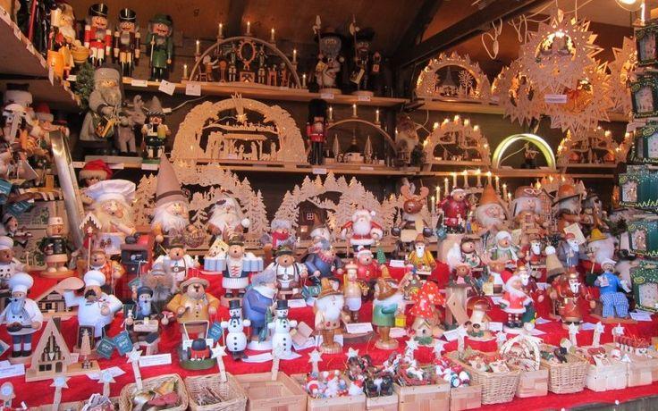 Ornaments & nutcrackers for sale at Frankfurt Christmas Market in Germany #markets #bazaars #ThePurplePassport