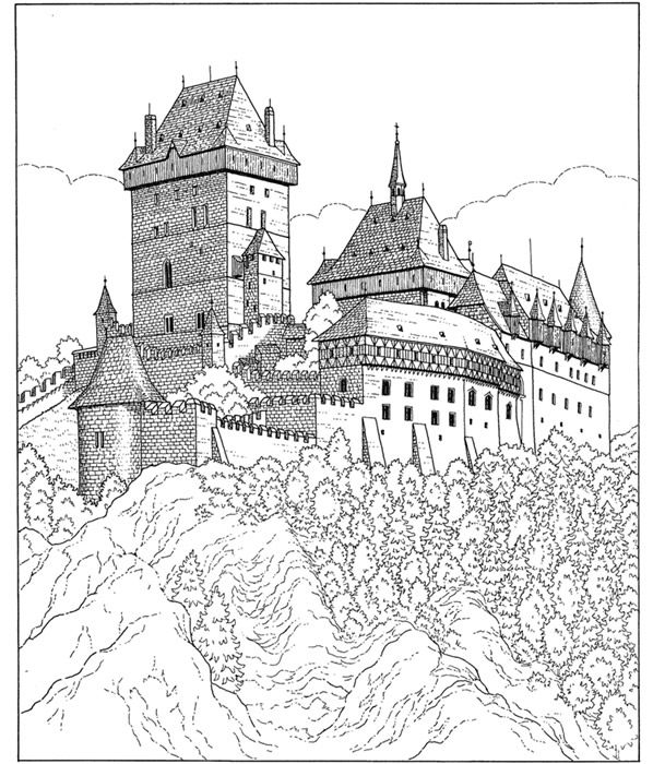 54 best Castles Dragons Knights Coloring Pages images on