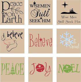 A Vinyl Design: Christmas - Square Designs