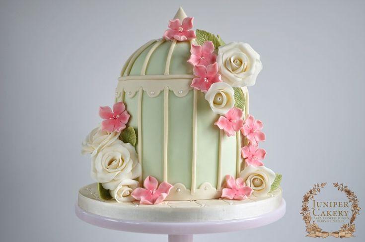Floral Birdcage Wedding Cake! - JUNIPER CAKERY : Cake Decorating Tutorials, Cake Decorating Supplies
